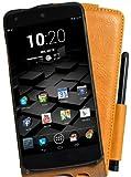 Perfect Case exklusive Flip Echtleder Tasche mit Stifthalterung für Google Nexus 5 braun