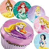 Disney Princess, Zucker-Muffinaufleger, 12 Stück, versch. Motive