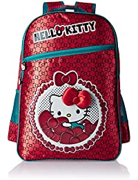 d9e43eb8bb Hello Kitty Polyester 16 Inch Red Children s Backpack (Age group  6-8 yrs