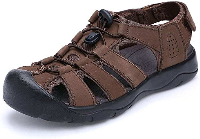 les les les hommes de cuir souple et espadrilles occasionnel antidérapant bouts fermés maison confortable outdoor sandales plates de chaussures...b07fjl9dbv parent b0d0fa