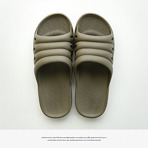 DogHaccd pantofole,Pantofole donne coppie stare al chiuso in estate una famiglia di tre bambini bambini bambino maschio anti-slittamento raffreddare bagno pantofole Il caffè4