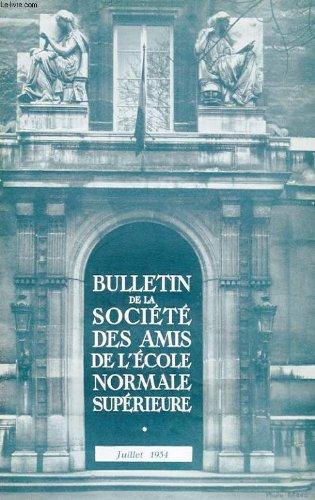 Bulletin de la societe des amis de l'ecole normale superieure - 34e annee - n° 70