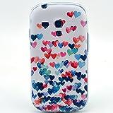Beiuns Carcasa de TPU y silicona para Samsung Galaxy S3 Mini Funda - L172 corazones multicolor