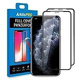 Arktis Panzerglas Panzerfolie [Full Cover Glas] Schutzfolie kompatibel mit iPhone 11 Pro vorne [Anti Bruch] Displayschutzfolie 9H Härte [Hüllenfreundlich] - 2er Set