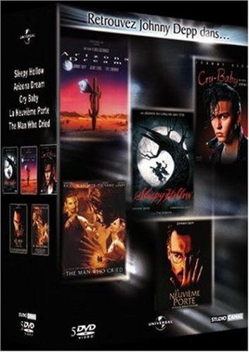 Coffret johnny depp : sleepy hollow ; arizona dream ; la neuvième porte ; cry baby ; the man who cried [FR Import]