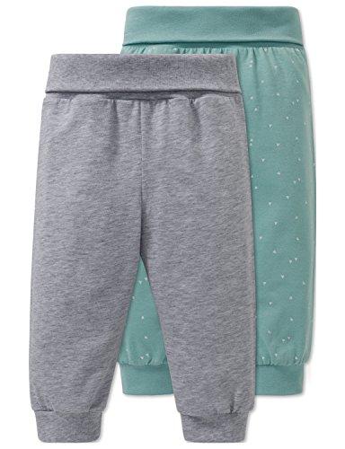 Schiesser Jungen 2pack Baby Hosen lang Schlafanzughose, Mehrfarbig (Sortiert 1 901), 80 (2erPack)