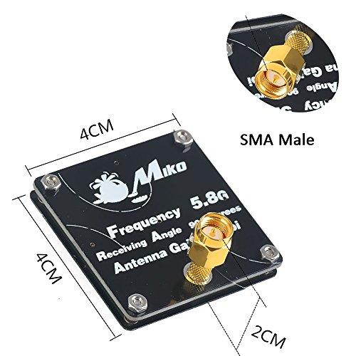 FPV Antenne 5,8G 9dBi 90 Grad FPV Empfänger RX Flach FPV Antenne SMA Stecker für FPV Racing Drone Fatshark dominator v3 FPV Brille