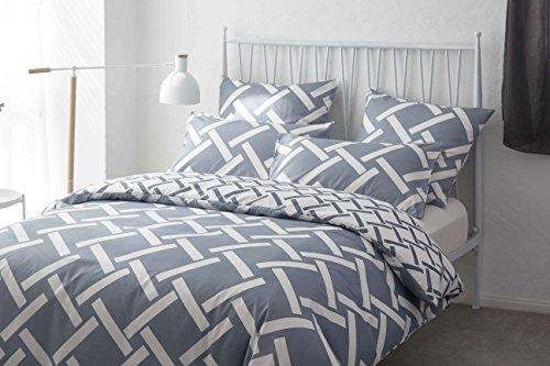 AYA Sets de Housse de Couettes 220x240cm + 2taies d'oreillers 65x65cm Parure de lit pour 2 Personnes