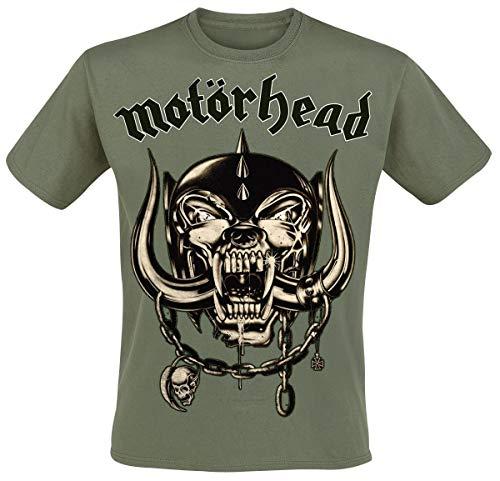Motörhead Army Green Warpig Camiseta Aceituna L