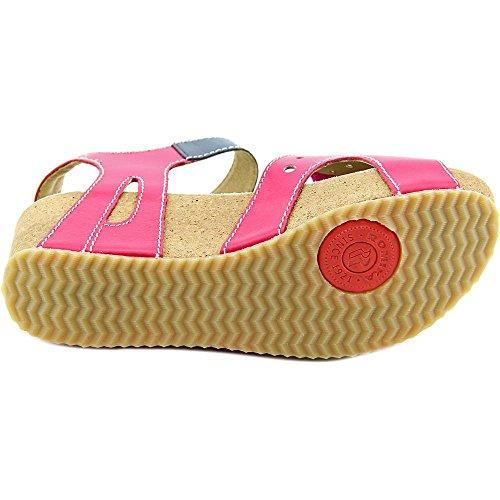 Romika Florida 05 Cuir Sandales Compensés Pink Ocean