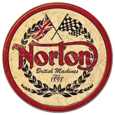 norton-plaque-publicitaire-metal-ronde-norton-british-machines