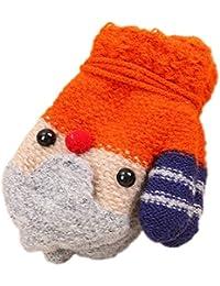 JUNGEN Enfant Gants Épaissir Moufle Chauds Peluche d hiver Gants en Tricot  Corde Doigt Complet 26b0b311e48