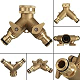 3/10,2cm Two Way Tech Traders double robinet de jardin adaptateur de connecteur fait avec solide Brass-best Quality-life temps Garantie