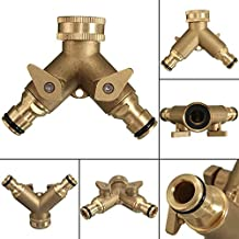 """3/4"""" TWO WAY TECH TRADERS DOUBLE GARDEN TAP CONNECTOR ADAPTOR MADE WITH SOLID BRASS-BEST QUALITY-LIFE TIME WARRANTY"""