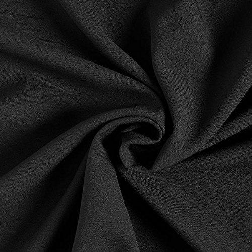 enstoff Classic Poly – schwarz — Meterware ab 0,5m — zum Nähen von Businesskleidung, Blazer und Hosen ()