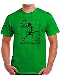 35mm - Camiseta Hombre Vitruvio Guitarra