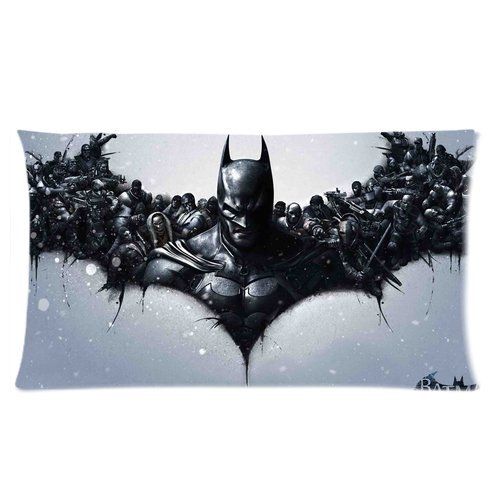 Tendenza Fashion Design Batman Logo Custom federa cuscino federa Casa Cuscino decorativo, 20 x 36 (2 lati)