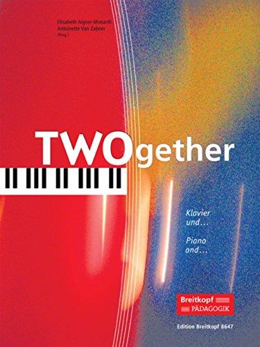 TWOgether - Klavier und ... für Violine(Cello/Flöte/Bassflöte/Klarinette/Alt-Sax/Trompete) und Klavier - 14 Duos (EB 8647)