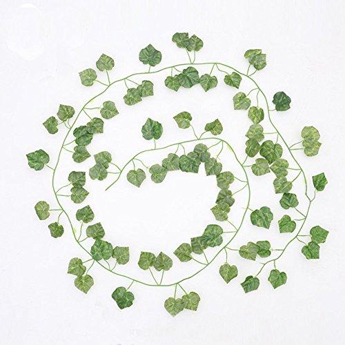 Fake Pflanze, 82Füße Total, künstliche Ivy grün Blätter Fake Aufhängen Pflanze für Hochzeit Party Garten Wand Home Dekoration Grape Vine (Grape Vine Dekorationen)