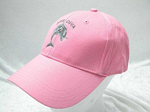 Baseballkappe Basecap Taucherkappe Lady Damen Pink Dive Diva (Womens Kappe Verstellbare Pink)