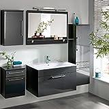 Komplett Badezimmer Möbel Set Hochglanz Badmöbel Schrank Waschtisch Waschplatz