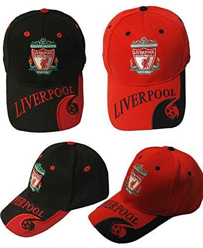 WEII Fußball Fan liefert Fußball Club Baseball Cap Outdoor Sports Sonnenhut,Liverpool rot,Einheitsgröße -