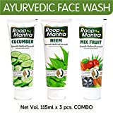 Roop Mantra Face Wash Combo, 115ml (Cucumber Face Wash + Neem Face Wash + Mix Fruit Face Wash)