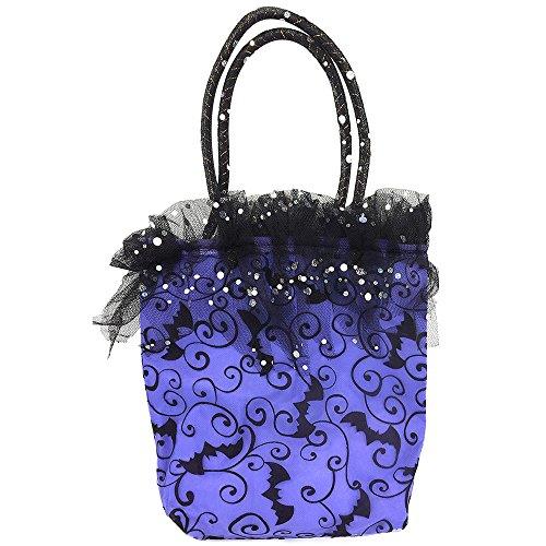 COM-FOUR® Hexenhandtasche in lila, Hexen Kostüm für Fasching, Karneval, Halloween, 53 x 27,5 (Kostüme King Halloween Royal)