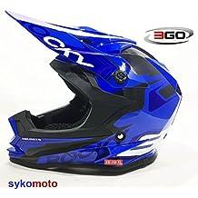 3GO XK188 ROCKY CUB NIÑOS MOTOCROSS MOTOCICLETA QUAD ATV DIRT BMX CASCO AZUL (XL (