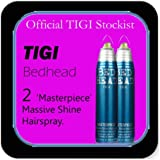 Tigi Bedhead - *Set of 2* 'Masterpiece' Massive Shine Hairspray (340ml each).
