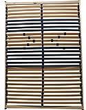 KOMPLETT MONTIERTES 5 Zonen Lattenrost 90x200cm, 28 Leisten, Härte verstellbar mit Mittelgurt, 180 kg - EINFÜHRUNGSPREIS (90x200)