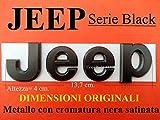 JP Jeep Stemma Nero Satinato Black Fregio Logo Scritta Emblema Badge