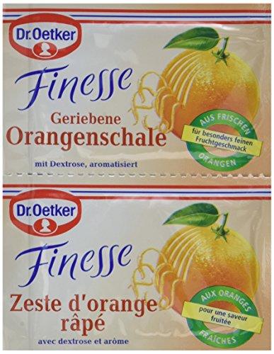 Dr. Oetker Finesse Natürliches Orangenschalen Aroma, 11er Pack (11 x 12 g) -