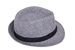 ZachariasMens Fedora Hat (Grey)