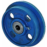 Spurkranzräder aus Grauguss, Rollen ø 250mm SPK/250 beidseitig kugelgelagert, blau lackiert, Flange wheels