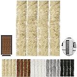 Flauschvorhang, Campingvorhang, Insektenschutz uni farbend, Auswahl: beige - sandbeige 56 x 185 cm