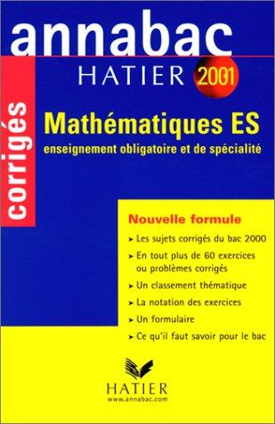 Annabac corrigés 2001 : Mathématiques ES
