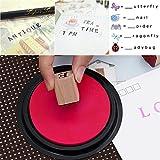 ULTNICE Alphabet Briefmarken Set Holz Stempel Gummi Anzahl Briefmarken 26 Großbuchstaben und 10 Zahlen von ULTNICE