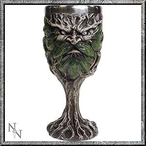 Calice greenman-wildwood-magie fantastique baumgeist waldgeist verre
