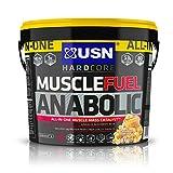USN Muscle Fuel Anabolic Lean Muscle Gain Shake Powder - Caramel Popcorn, 4 kg