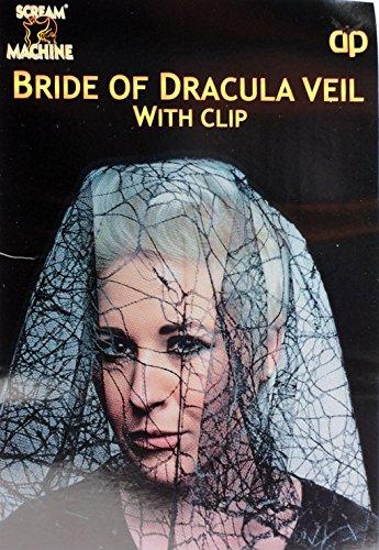 Braut von Dracula schwarz Spider Web Hochzeit Schleier-Fancy Dress Party Kostüm