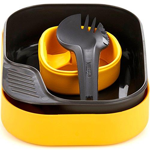 Wildo® Camp-A-Box Light Outdoor-Essgeschirr-Set (BPA-frei & 3-teilig), Farbe:gelb