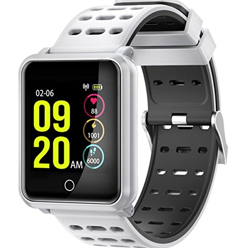 Fitness Tracker Watch IP68impermeabile Activity Tracker Bluetooth Smart Watch Heart Rate Blood Pressure monitor del sonno