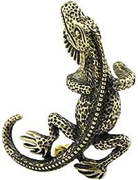 Ocamo Gecko Lizard Gothic Punk Rock Ear Wrap Cuff Left Earring Stud Ear Cuffs Clip Vintage Jewelry For Women And...