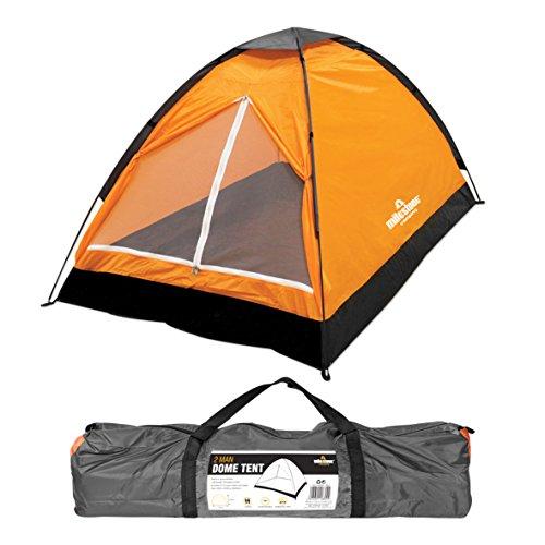 Milestone Camping Tienda iglú para dos personas Naranja