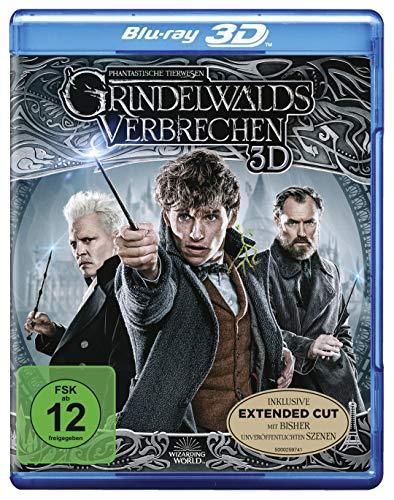 Phantastische Tierwesen: Grindelwalds Verbrechen (3D Blu-ray + 2D Extended Cut) [Blu-ray] (Film Der Halloween-2019)