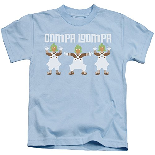 Willy Wonka And The Chocolate Factory - - Jugend Oompa Loompa T-Shirt, Large (7), Light Blue Oompa Loompa-shirts