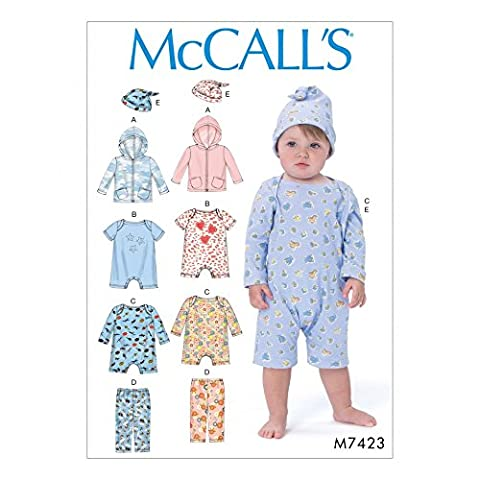 McCall 's Baby einfach Schnittmuster 7423, Hoodie, Bodys, Hosen &