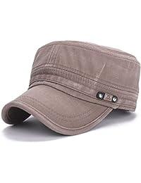 AIMEE7 Sombrero Militar De Techo Plano Cadete Patrulla Bush Sombrero Gorra De Campo De BéIsbol wt1Sv4oj