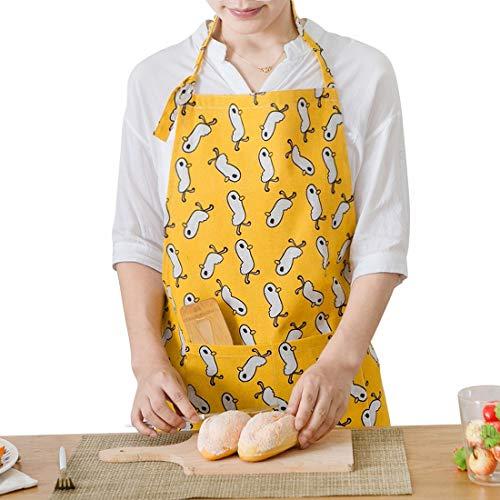 Fusanadarn Professionelle Unisex-Lätzchen mit gelber Ente, flüssig, tropfenfest, langlebig, mit Schnur verstellbar, maschinenwaschbar, bequem und pflegeleicht, Schürze zum Kochen, Backen, Gartenarbeit -